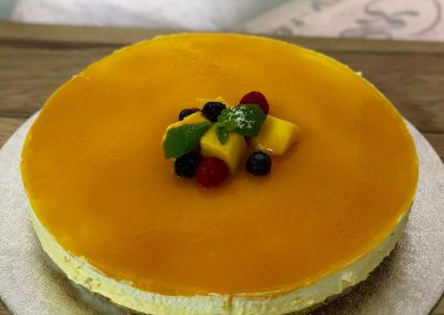 Homemade Mango Cheesecake