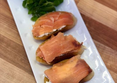 Smoked Salmon Bruscetta